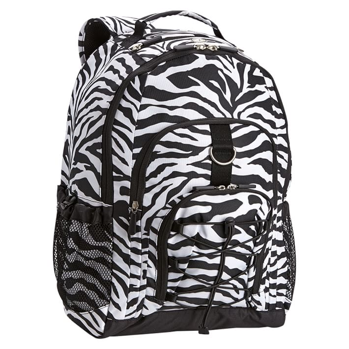 Gear-Up Black Zebra Backpack | PBteen