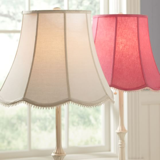scallop floor lamp shade pbteen With floor lamp with scalloped shade