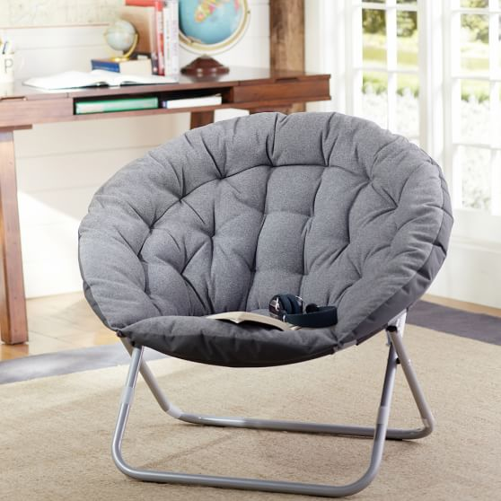 gray highlands hang a round chair pbteen. Black Bedroom Furniture Sets. Home Design Ideas