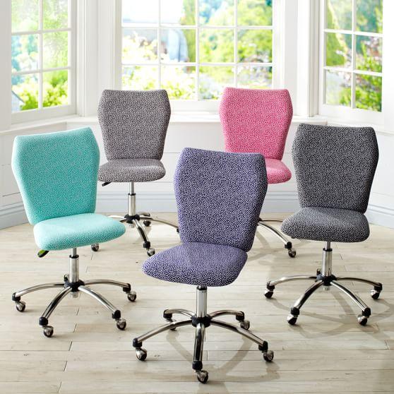Airgo mini dot arm armless chairs pbteen Desk chairs for teens