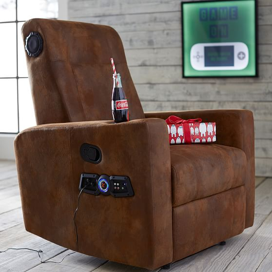 Trailblazer Kick Back Recliner Speaker Media Chair