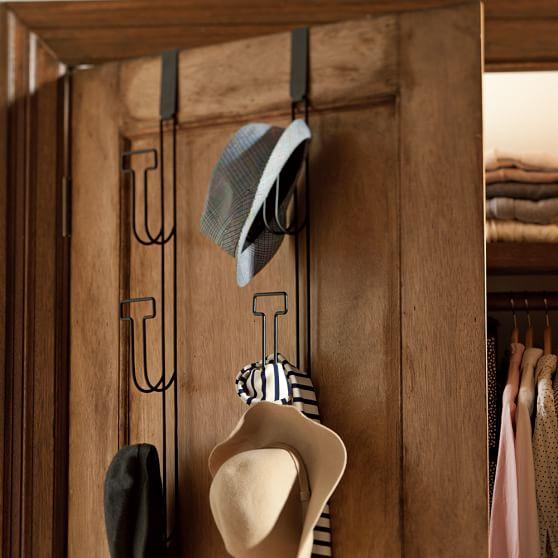 Over the door hat rack pbteen for Diy door hat rack