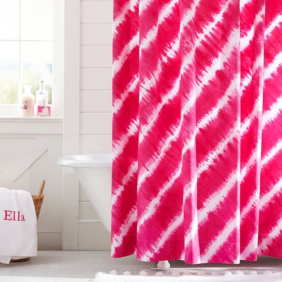 how to clean pink off shower curtain