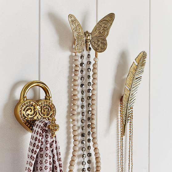 gold vintage novelty hooks pbteen