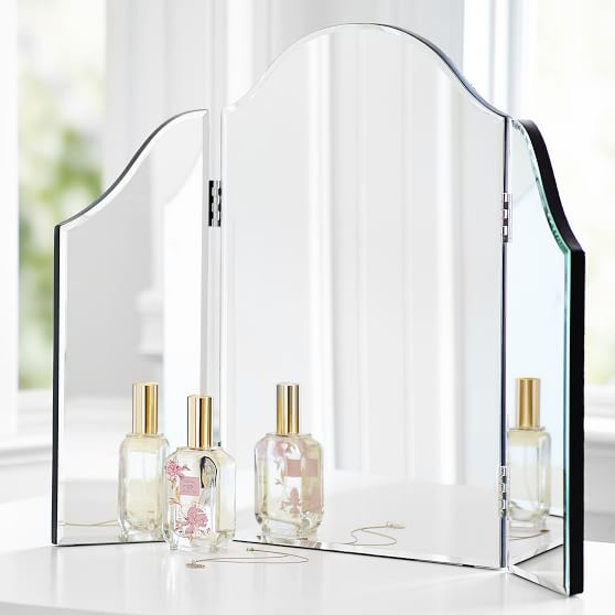 Mirrored Trifold Vanity Pbteen