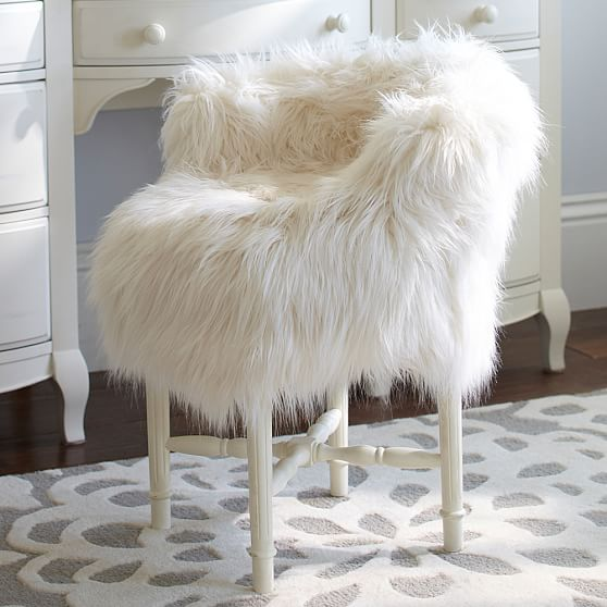 Fur Rific Minnie Stool Slipcover Pbteen
