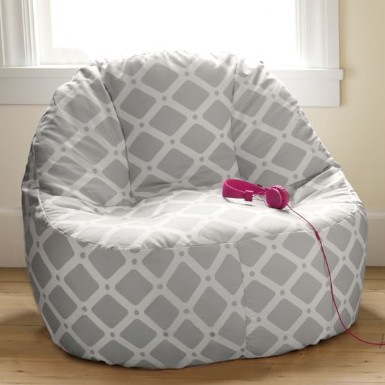 Gray trellis leanback lounger pbteen - Leanback lounger chairs ...