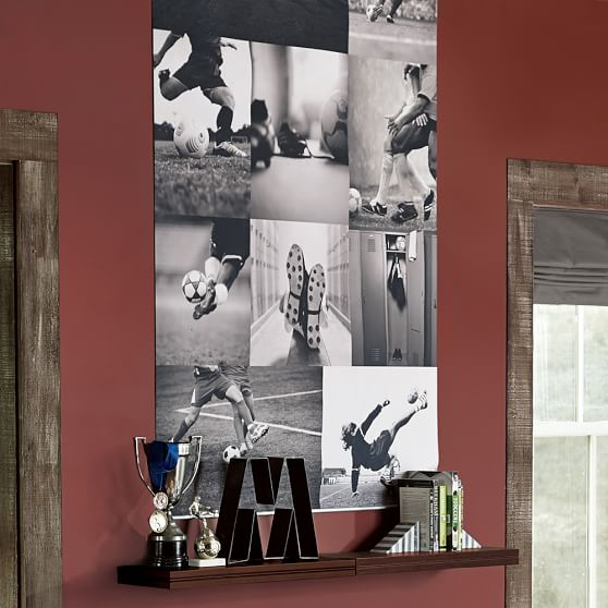 soccer collage wall mural pbteen