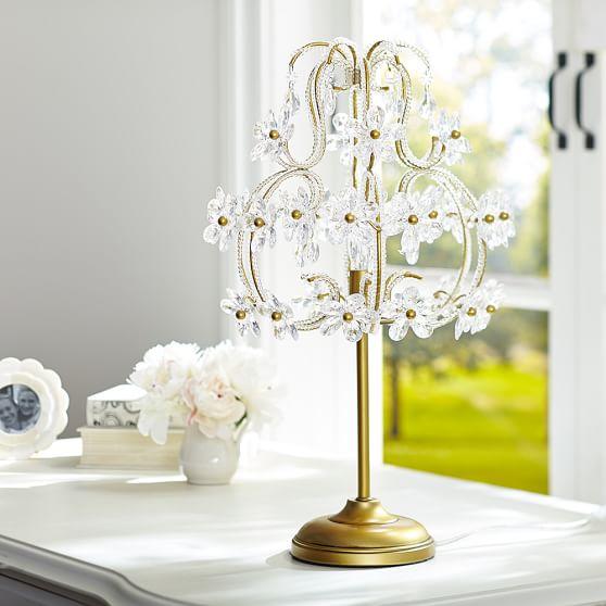 The Emily Meritt Chandelier Table Lamp Pbteen