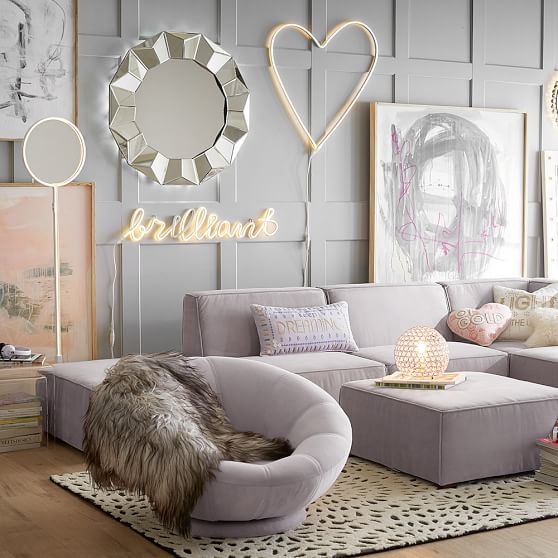 Light up floor mirror pbteen for Mirrors for teenage rooms