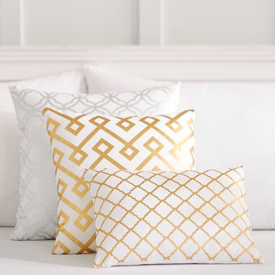 Pottery Barn Decorative Bed Pillows : Decorator Foil Pillow Covers PBteen