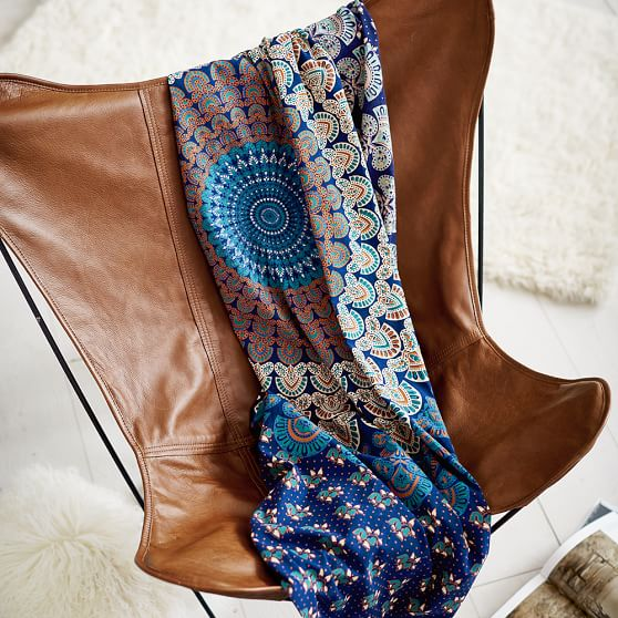 Leather Sling Butterfly Chair Pbteen