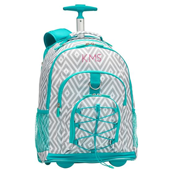 monogrammed rolling backpack Backpack Tools