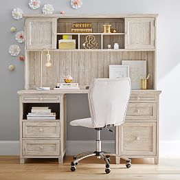 Beadboard Smart Desk Hutch J