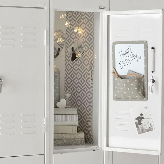 Locker Wallpaper Diy: Preppy Diamond Gray Locker Wallpaper, 3 Sheets