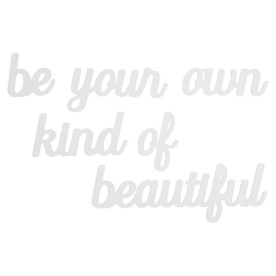 Be Your Own Kind of Beautiful Wall Art, Set of 6, White