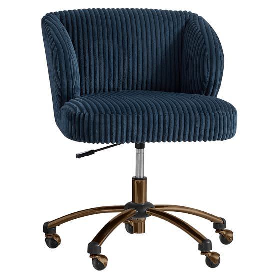 Midnight Chamois Wingback Desk Chair
