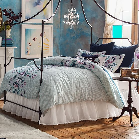 Bohemian vine duvet cover sham pbteen for How to change a duvet cover by rolling