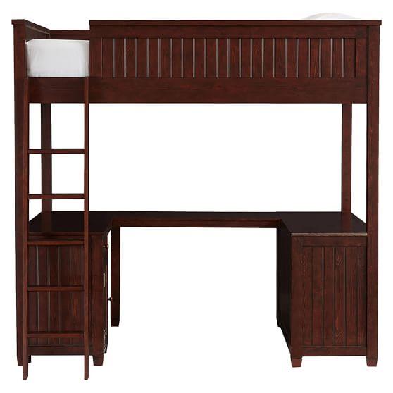 Beadboard loft bed pbteen - Loft furniture ...