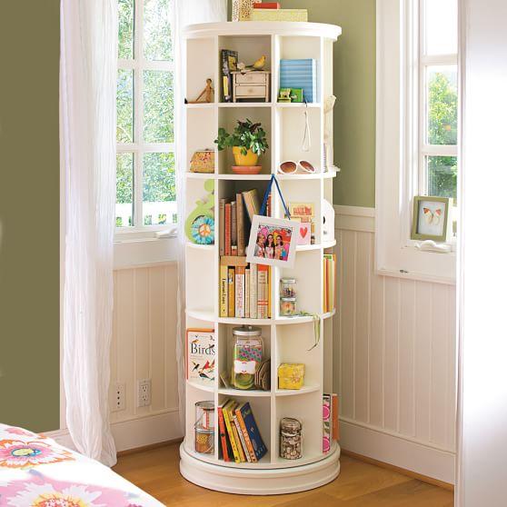Revolving Bookcase, PBTeen White