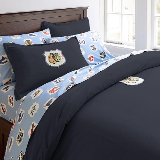 nhl patch duvet cover sham pbteen. Black Bedroom Furniture Sets. Home Design Ideas