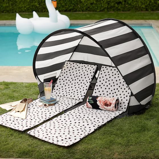 The emily amp meritt beach lounger and sun shade tent pbteen