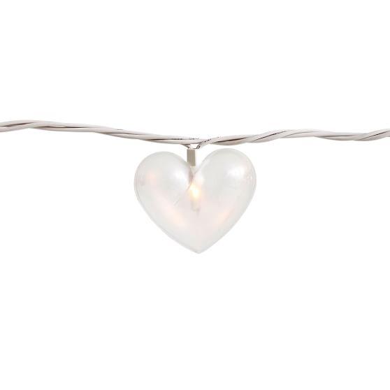 String Lights Shapes : The Emily & Meritt Heart Shaped String Lights PBteen