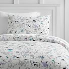 Holiday Hounds Flannel Duvet Cover, Full/Queen, Multi