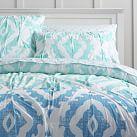 Kelly Slater Organic Ikat Shells Quilt, Twin, Blue Multi