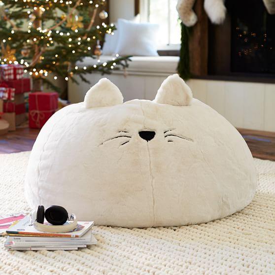 Cat Faux-Fur Beanbag | PBteen