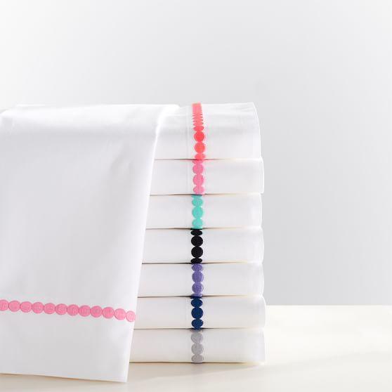 Pop Dot Sheet Set, Twin/XL Twin, Bright Pink