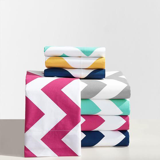 Chevron Sheet Set, Twin/Twin XL, Pink Magenta