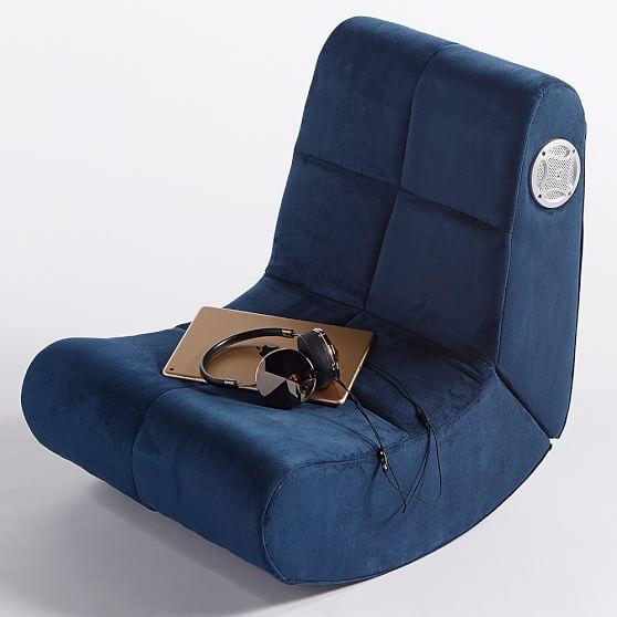 Suede Mini Rocker Speaker Chair Pbteen