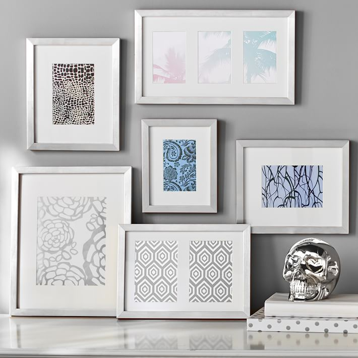 gallery frames set of 6 silver pbteen