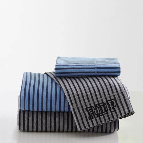 Tonal Stripe Favorite Tee Sheet Set, Twin/Twin XL, Black