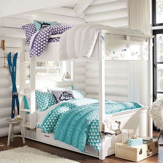 Hampton bunk bed pbteen for Bedroom ideas hamptons