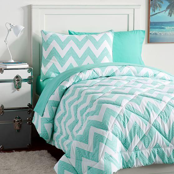 Zig zag stripe value comforter set pbteen for Zig zag bedroom ideas
