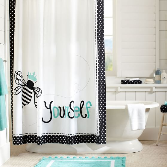 Bee Yourself Shower Curtain | PBteen
