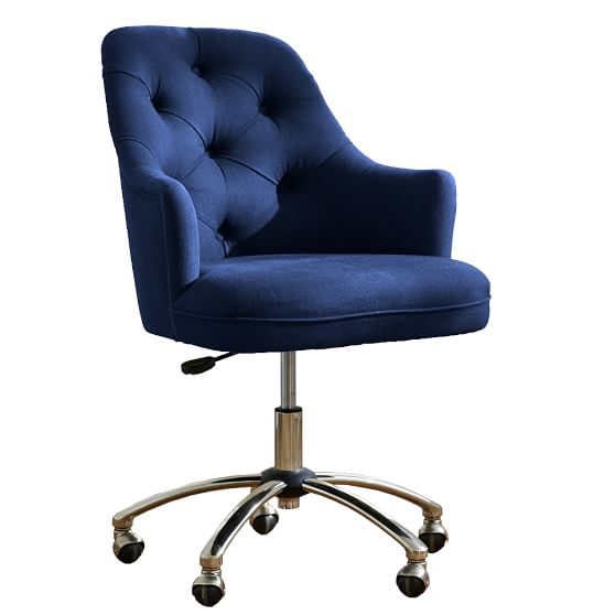 Twill Tufted Desk Chair | PBteen