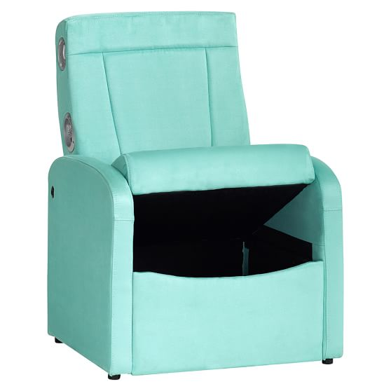 Suede Flip Out Ottoman Speaker Chair Pbteen