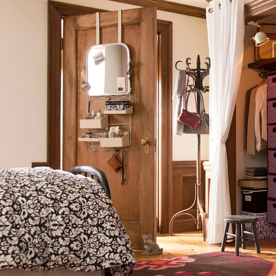 over the door mirror rack pbteen. Black Bedroom Furniture Sets. Home Design Ideas