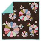 Funky Floral Quilt, Twin, Dark Brown
