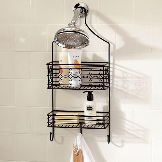 Wire Bath Showerhead Caddy + 3 Dividers, Black