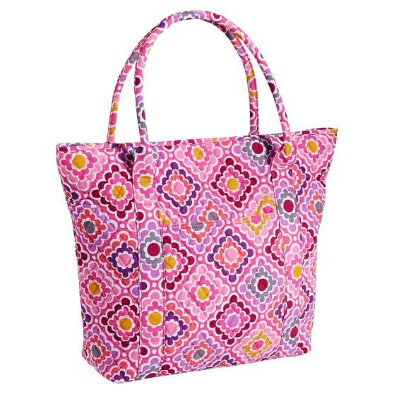 Quilted Tote Bag, Ruby Warm