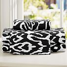 Urban Ikat Organic Sheet Set, Twin/Twin XL, Black