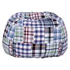 Madras Patch Beanbag, Slipcover Only