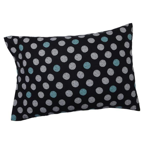 Snowball Pillowcase, Standard, Black