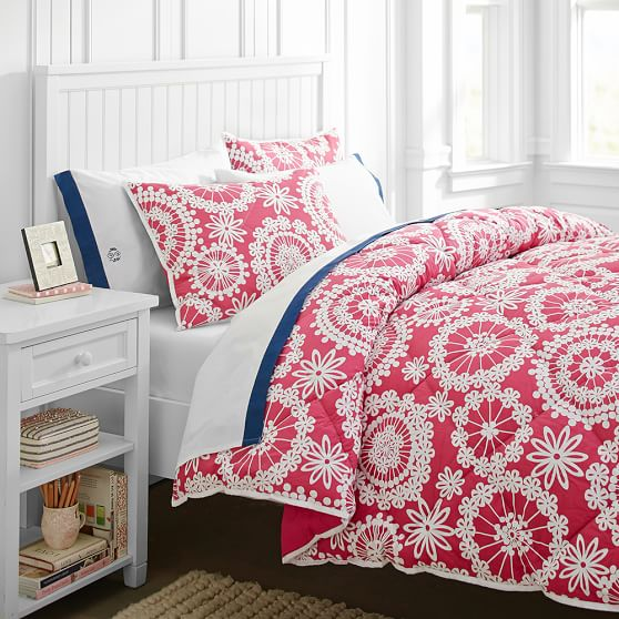 Dandelion Super Pouf Comforter + Sham, Twin, Magenta