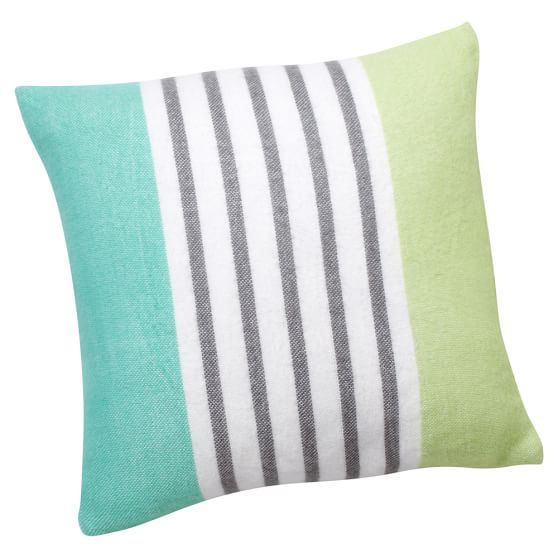 Pattern Play Pillow Cover, 16x16, Pool Stripe