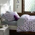 Damask Duvet Cover, Twin, Plum